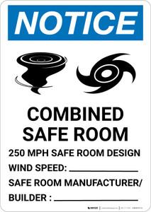 Notice: Hurricane/Tornado Safe Room Portrait