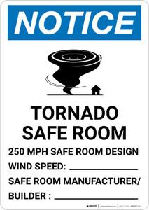 Notice: Tornado Safe Room Portrait