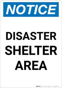 Notice: Disaster Shelter Area Portrait