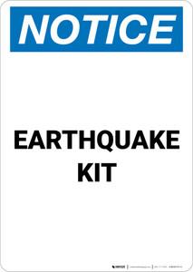 Notice: Earthquake Kit Portrait
