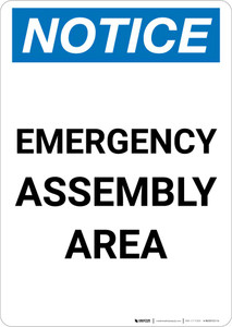 Notice: Emergency Assembly Area Portrait