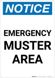 Notice: Emergency Muster Area Portrait