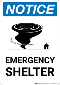 Notice: Emergency Shelter with Icon Portrait