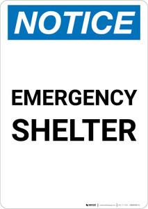 Notice: Emergency Shelter Portrait