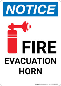 Notice: Fire Evacuation Horn with Icon Portrait