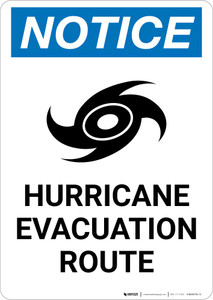 Notice: Hurricane Evacuation Route Portrait