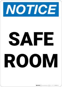 Notice: Safe Room Portrait
