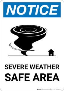 Notice: Severe Weather Safe Area Portrait