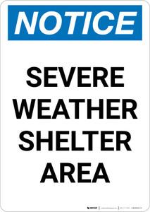 Notice: Severe Weather Shelter Area Text Portrait