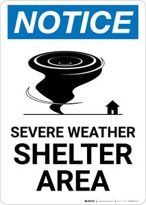 Notice: Severe Weather Shelter Area Portrait