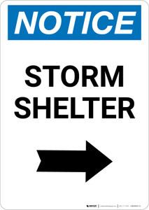 Notice: Storm Shelter Right Arrow Portrait