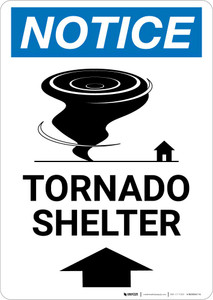Notice: Tornado Shelter with Icon Portrait