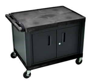 "Luxor AV Cart with Locking Cabinet 27"" H"