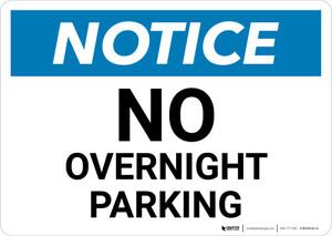 Notice: No Overnight Parking Landscape