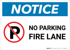 Notice: No Parking - Fire Lane Landscape