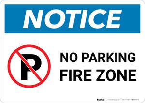 Notice: No Parking - Fire Zone Landscape