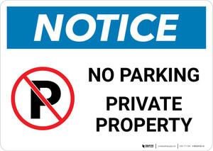 Notice: No Parking Private Property Landscape