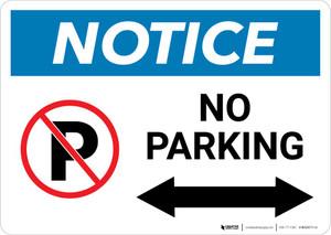 Notice: No Parking with Arrow Landscape
