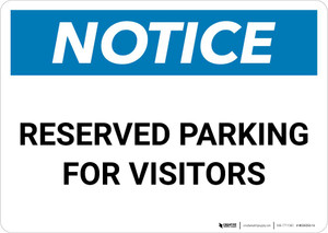Notice: Reserved Parking for Visitors Landscape