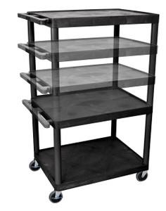 Luxor Black Endura Presentation Cart w/ Electric