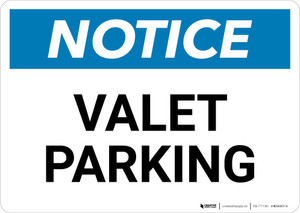Notice: Valet Parking Landscape