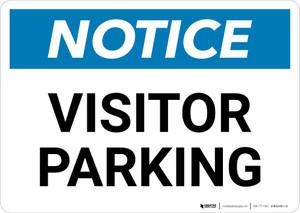 Notice: Visitor Parking Landscape