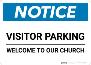 Notice: Visitor Parking - Welcome To Our Church Landscape