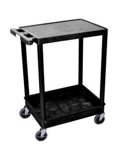 Luxor 2 Shelf Black Tub Cart