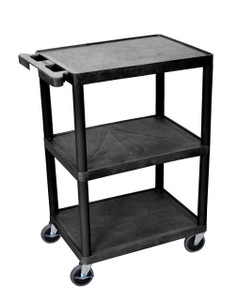 Luxor 3 Shelf Black Cart