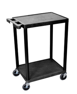 Luxor 2 Shelf Black Cart