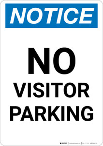 Notice: No Visitor Parking Portrait