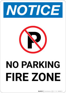 Notice: No Parking - Fire Zone Portrait