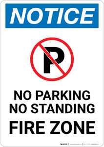 Notice: No Parking or Standing - Fire Zone Portrait