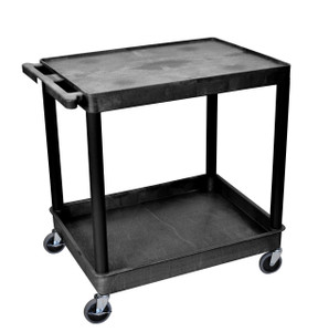 Luxor 2 Shelf Large Black Tub Cart