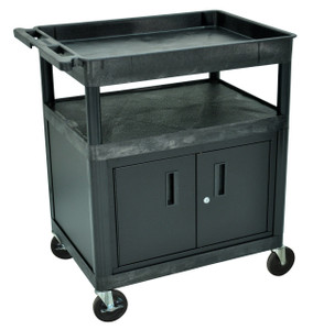 Luxor Black 3 shelf (Tub, Flat, Flat) w/CABINET