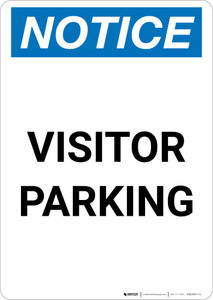 Notice: Visitor Parking Portrait