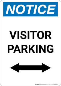 Notice: Visitor Parking with Bidirectional Arrow Portrait