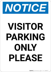 Notice: Visitor Parking Only Please Portrait