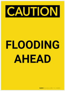 Caution: Flooding Ahead Landscape - Label