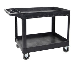Luxor XLC11SP5-B two shelf heavy-duty utility cart w/SP5 Casters