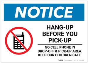 Notice: Hang-Up Before You Pick-up Landscape - Label