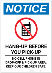 Notice: Hang-Up Before You Pick-up Portrait - Label