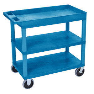 Luxor EC122HD 18x32 Blue Cart 2 Flat with 1 Tub Shelf