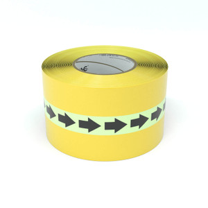SafetyTac® Glowstripe: Arrows Repeating - Inline Printed Floor Marking Tape