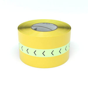 SafetyTac® Glowstripe: Chevron Arrow Pattern - Inline Printed Floor Marking Tape