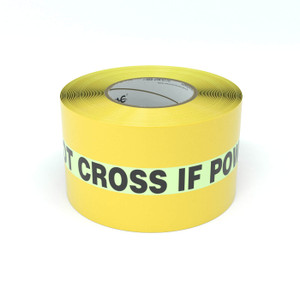 SafetyTac® Glowstripe: Do Not Cross If Power is Out - Inline Printed Floor Marking Tape