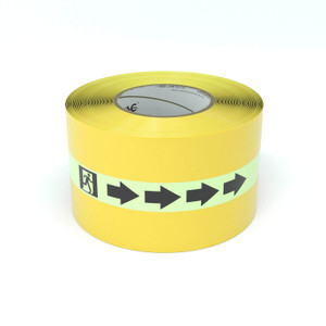SafetyTac® Glowstripe: Egress Symbol With Arrow - Inline Printed Floor Marking Tape
