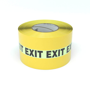 SafetyTac® Glowstripe: Exit - Inline Printed Floor Marking Tape