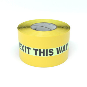SafetyTac® Glowstripe: Exit This Way - Inline Printed Floor Marking Tape