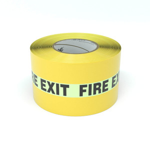 SafetyTac® Glowstripe: Fire Exit - Inline Printed Floor Marking Tape